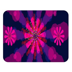 Flower Red Pink Purple Star Sunflower Double Sided Flano Blanket (Large)