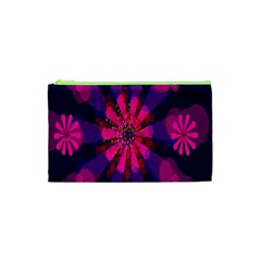 Flower Red Pink Purple Star Sunflower Cosmetic Bag (XS)