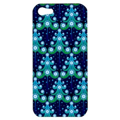 Christmas Tree Snow Green Blue Apple iPhone 5 Hardshell Case