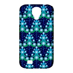 Christmas Tree Snow Green Blue Samsung Galaxy S4 Classic Hardshell Case (PC+Silicone)
