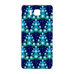 Christmas Tree Snow Green Blue Samsung Galaxy Alpha Hardshell Back Case