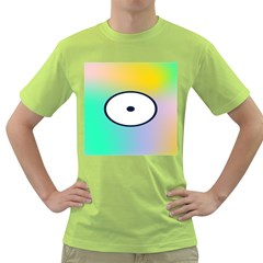 Illustrated Circle Round Polka Rainbow Green T-Shirt