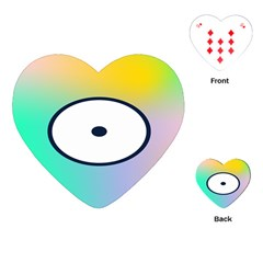 Illustrated Circle Round Polka Rainbow Playing Cards (Heart)