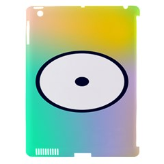 Illustrated Circle Round Polka Rainbow Apple iPad 3/4 Hardshell Case (Compatible with Smart Cover)