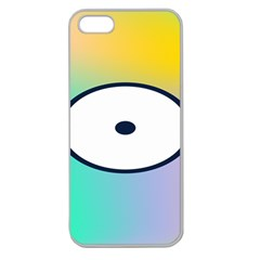 Illustrated Circle Round Polka Rainbow Apple Seamless iPhone 5 Case (Clear)
