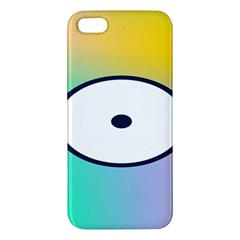 Illustrated Circle Round Polka Rainbow Apple iPhone 5 Premium Hardshell Case