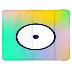Illustrated Circle Round Polka Rainbow Samsung Galaxy Tab 7  P1000 Flip Case
