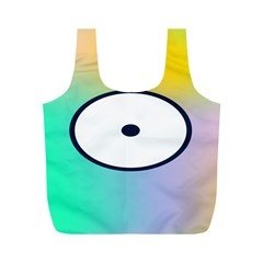 Illustrated Circle Round Polka Rainbow Full Print Recycle Bags (M)