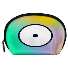 Illustrated Circle Round Polka Rainbow Accessory Pouches (Large)