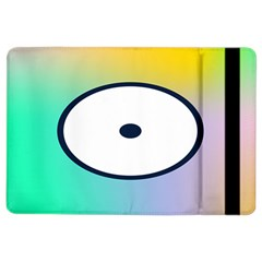 Illustrated Circle Round Polka Rainbow iPad Air 2 Flip