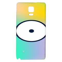 Illustrated Circle Round Polka Rainbow Galaxy Note 4 Back Case