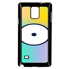 Illustrated Circle Round Polka Rainbow Samsung Galaxy Note 4 Case (Black)