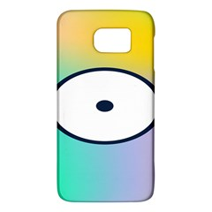 Illustrated Circle Round Polka Rainbow Galaxy S6