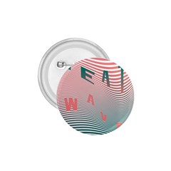 Heat Wave Chevron Waves Red Green 1.75  Buttons