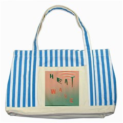 Heat Wave Chevron Waves Red Green Striped Blue Tote Bag