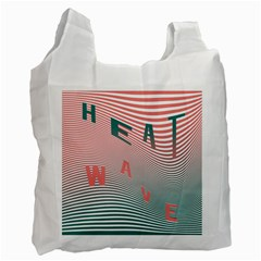 Heat Wave Chevron Waves Red Green Recycle Bag (One Side)