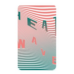 Heat Wave Chevron Waves Red Green Memory Card Reader