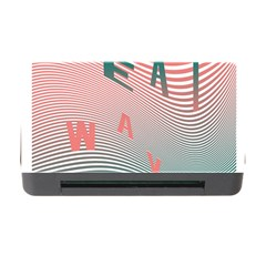 Heat Wave Chevron Waves Red Green Memory Card Reader with CF