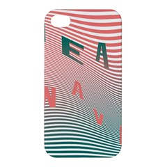 Heat Wave Chevron Waves Red Green Apple iPhone 4/4S Premium Hardshell Case