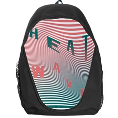 Heat Wave Chevron Waves Red Green Backpack Bag
