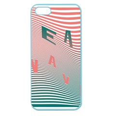 Heat Wave Chevron Waves Red Green Apple Seamless iPhone 5 Case (Color)