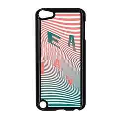 Heat Wave Chevron Waves Red Green Apple iPod Touch 5 Case (Black)