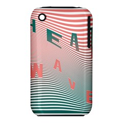 Heat Wave Chevron Waves Red Green iPhone 3S/3GS