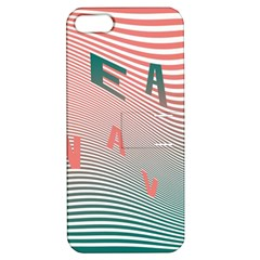 Heat Wave Chevron Waves Red Green Apple iPhone 5 Hardshell Case with Stand