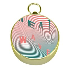Heat Wave Chevron Waves Red Green Gold Compasses