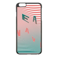 Heat Wave Chevron Waves Red Green Apple iPhone 6 Plus/6S Plus Black Enamel Case
