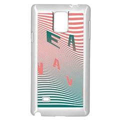 Heat Wave Chevron Waves Red Green Samsung Galaxy Note 4 Case (White)