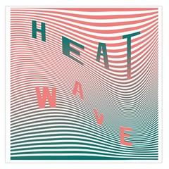 Heat Wave Chevron Waves Red Green Large Satin Scarf (Square)