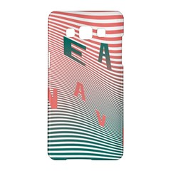 Heat Wave Chevron Waves Red Green Samsung Galaxy A5 Hardshell Case