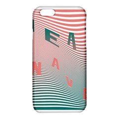 Heat Wave Chevron Waves Red Green iPhone 6/6S TPU Case