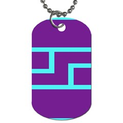 Illustrated Position Purple Blue Star Zodiac Dog Tag (One Side)