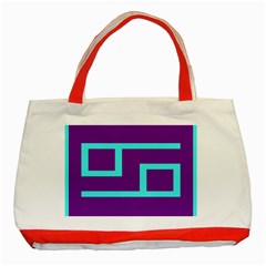 Illustrated Position Purple Blue Star Zodiac Classic Tote Bag (Red)