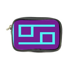 Illustrated Position Purple Blue Star Zodiac Coin Purse