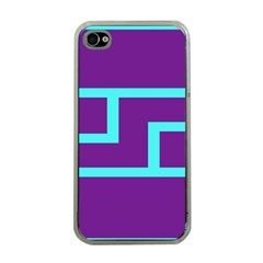 Illustrated Position Purple Blue Star Zodiac Apple iPhone 4 Case (Clear)