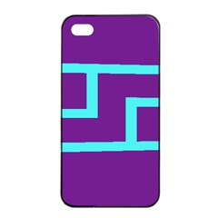 Illustrated Position Purple Blue Star Zodiac Apple iPhone 4/4s Seamless Case (Black)