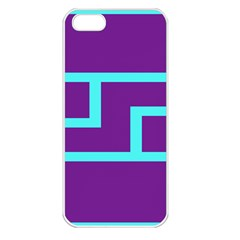Illustrated Position Purple Blue Star Zodiac Apple iPhone 5 Seamless Case (White)