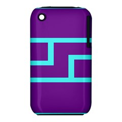 Illustrated Position Purple Blue Star Zodiac iPhone 3S/3GS