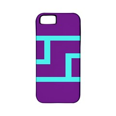 Illustrated Position Purple Blue Star Zodiac Apple iPhone 5 Classic Hardshell Case (PC+Silicone)