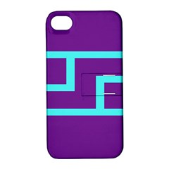 Illustrated Position Purple Blue Star Zodiac Apple iPhone 4/4S Hardshell Case with Stand