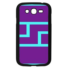 Illustrated Position Purple Blue Star Zodiac Samsung Galaxy Grand DUOS I9082 Case (Black)