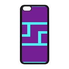 Illustrated Position Purple Blue Star Zodiac Apple iPhone 5C Seamless Case (Black)