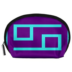 Illustrated Position Purple Blue Star Zodiac Accessory Pouches (Large)
