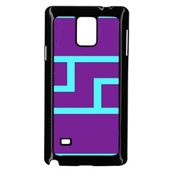 Illustrated Position Purple Blue Star Zodiac Samsung Galaxy Note 4 Case (Black)