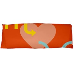 Illustrated Zodiac Love Heart Orange Yellow Blue Body Pillow Case (Dakimakura)