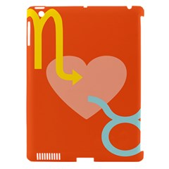 Illustrated Zodiac Love Heart Orange Yellow Blue Apple iPad 3/4 Hardshell Case (Compatible with Smart Cover)