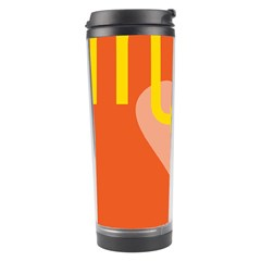 Illustrated Zodiac Love Heart Orange Yellow Blue Travel Tumbler